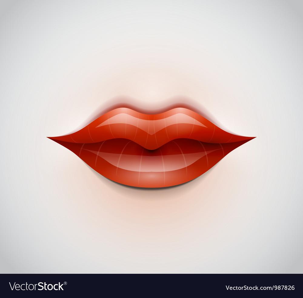 Lips background vector image