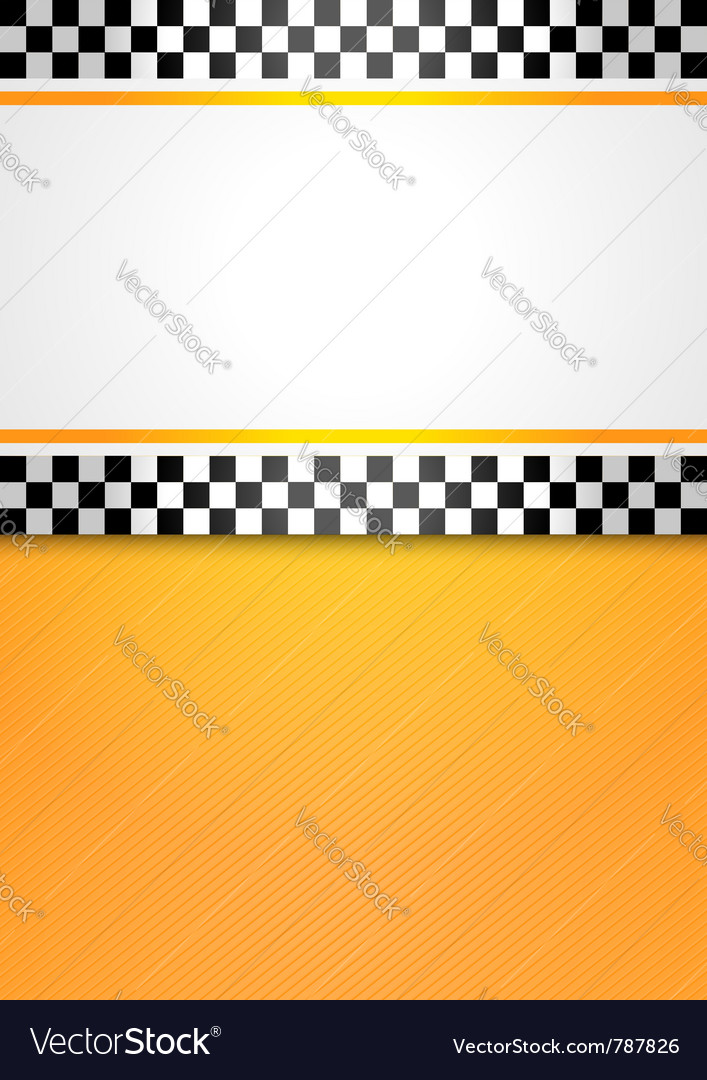 Taxi cab blank background vector image