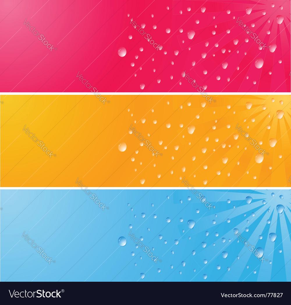 Waterdrops Vector Image