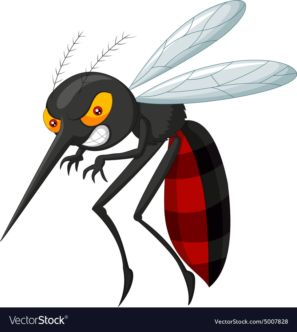 Angry mosquito cartoon vector 5007828