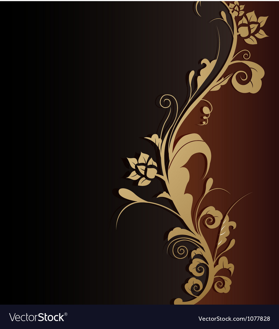 Beauty floral background vector image