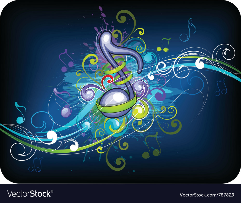 Music background design vector image