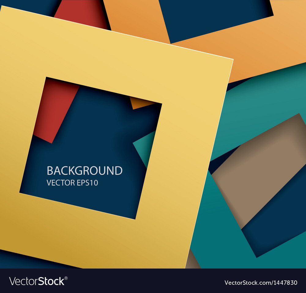 Abstract paper square shapes background vector image
