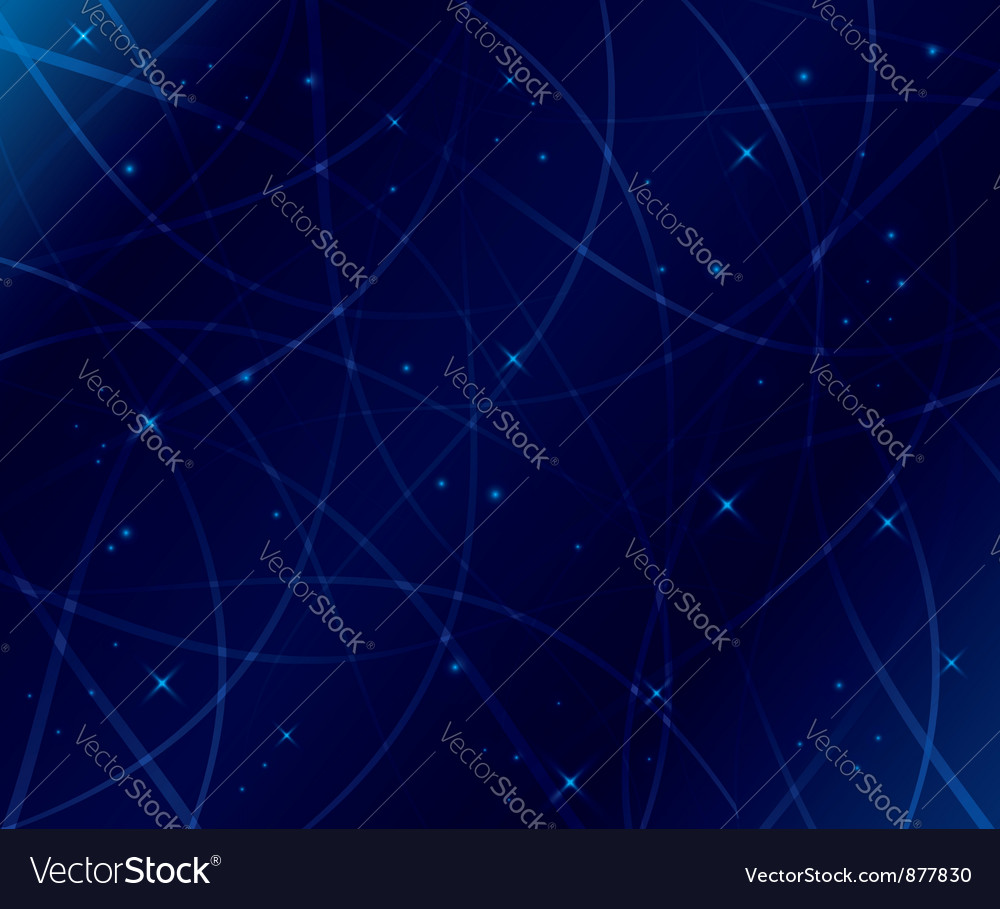 Curved light lines vector image