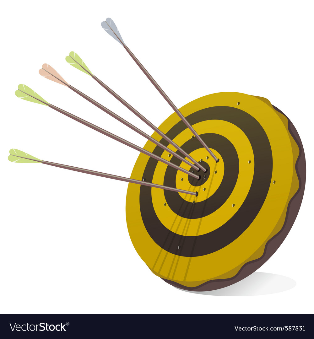 Business succes target in black and yellow vector image