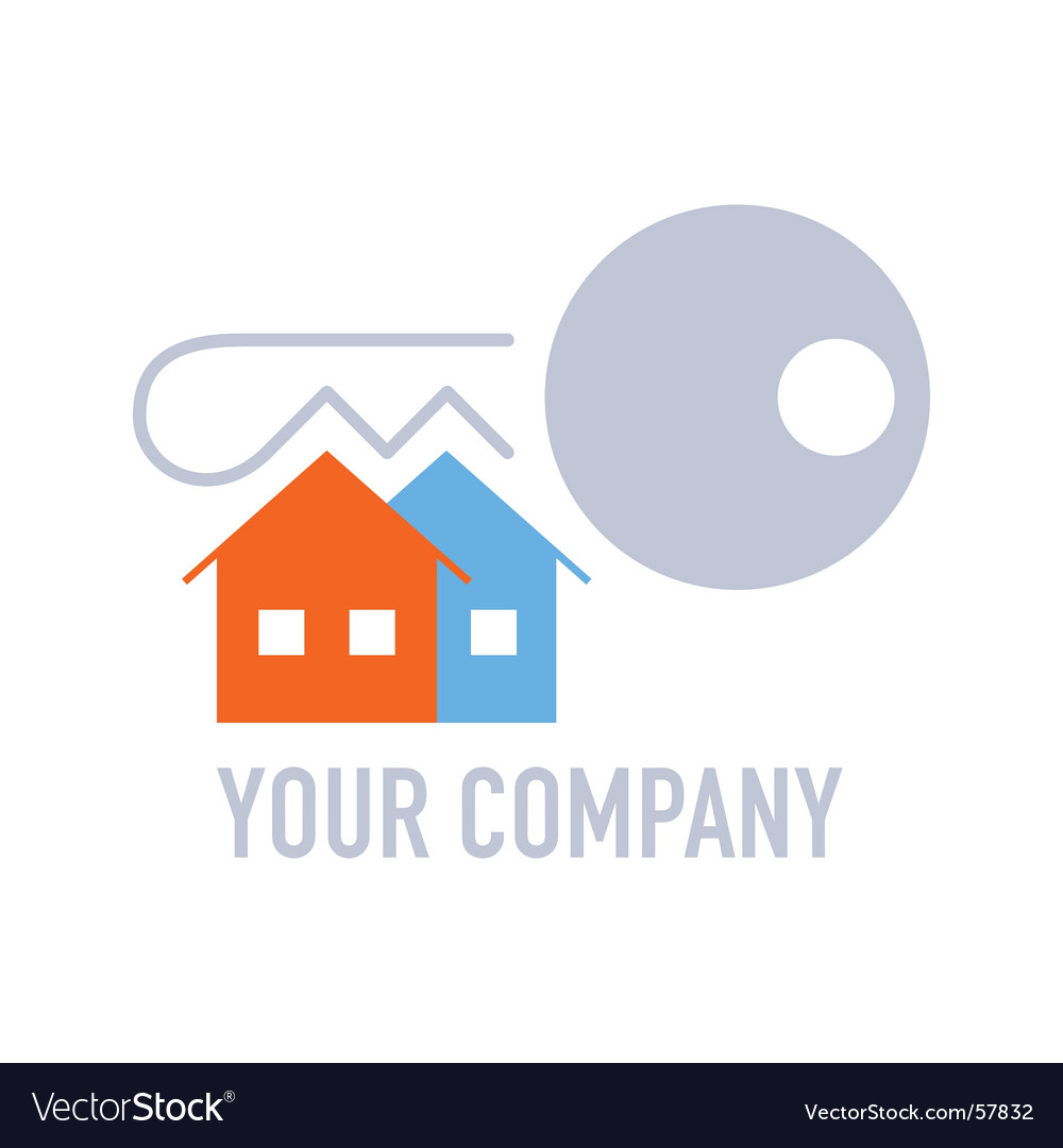 Real estate company logo vector image