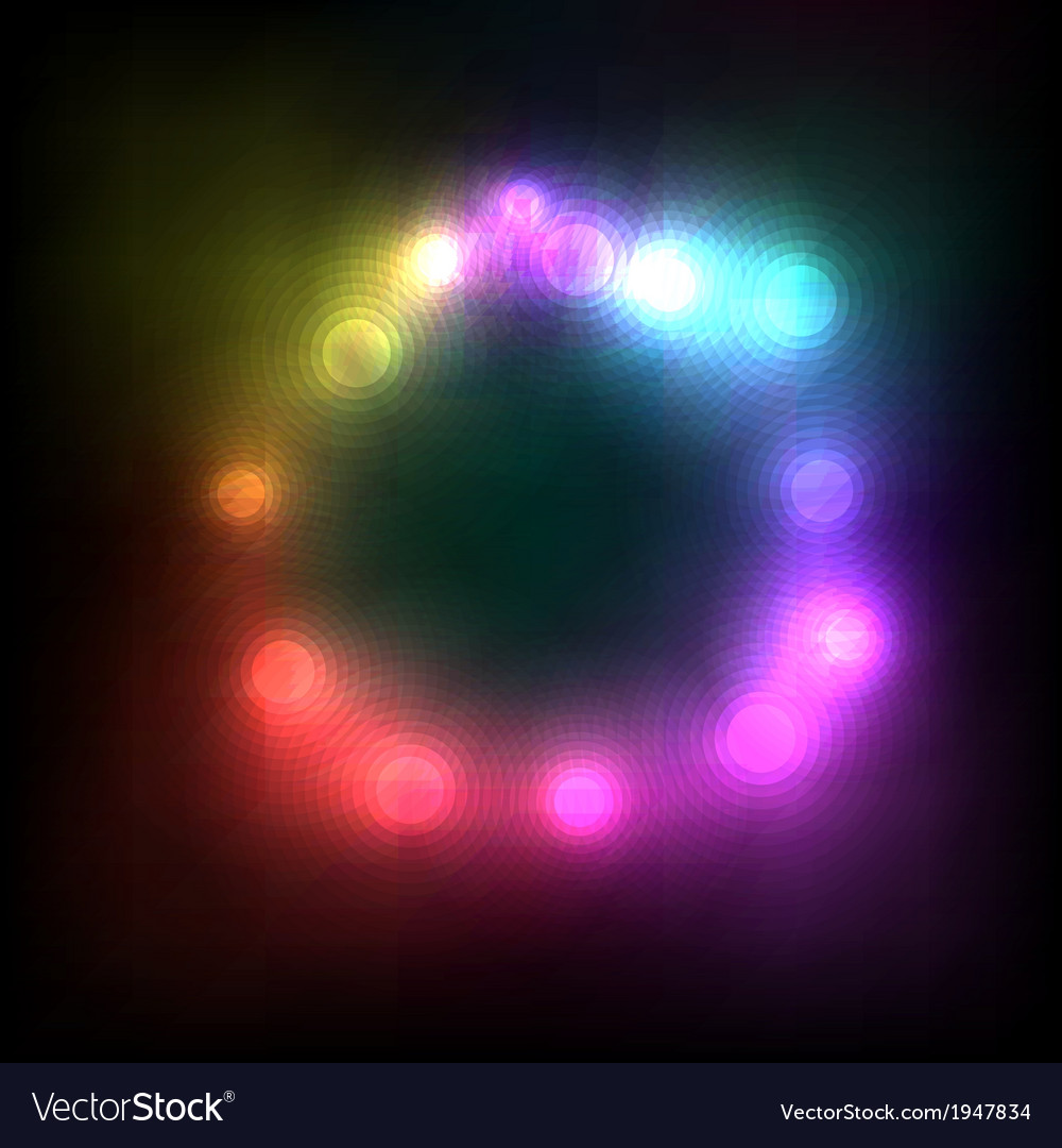 Abstract Colorful Magic Glow Light vector image