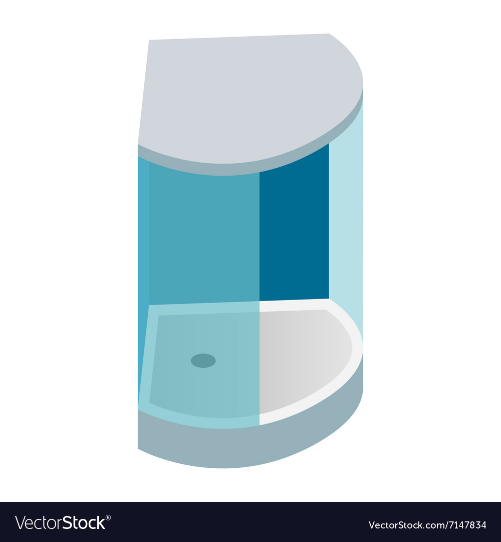 Shower cabin isometric 3d icon vector image