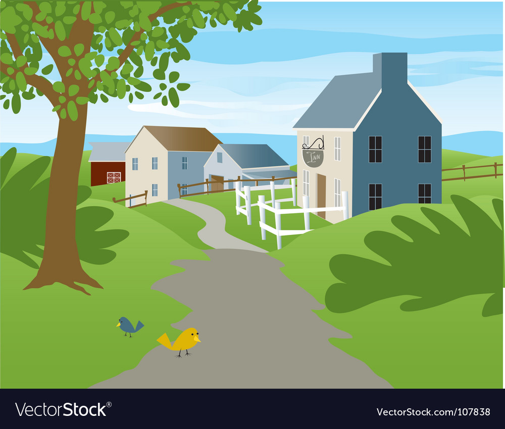Small village vector image