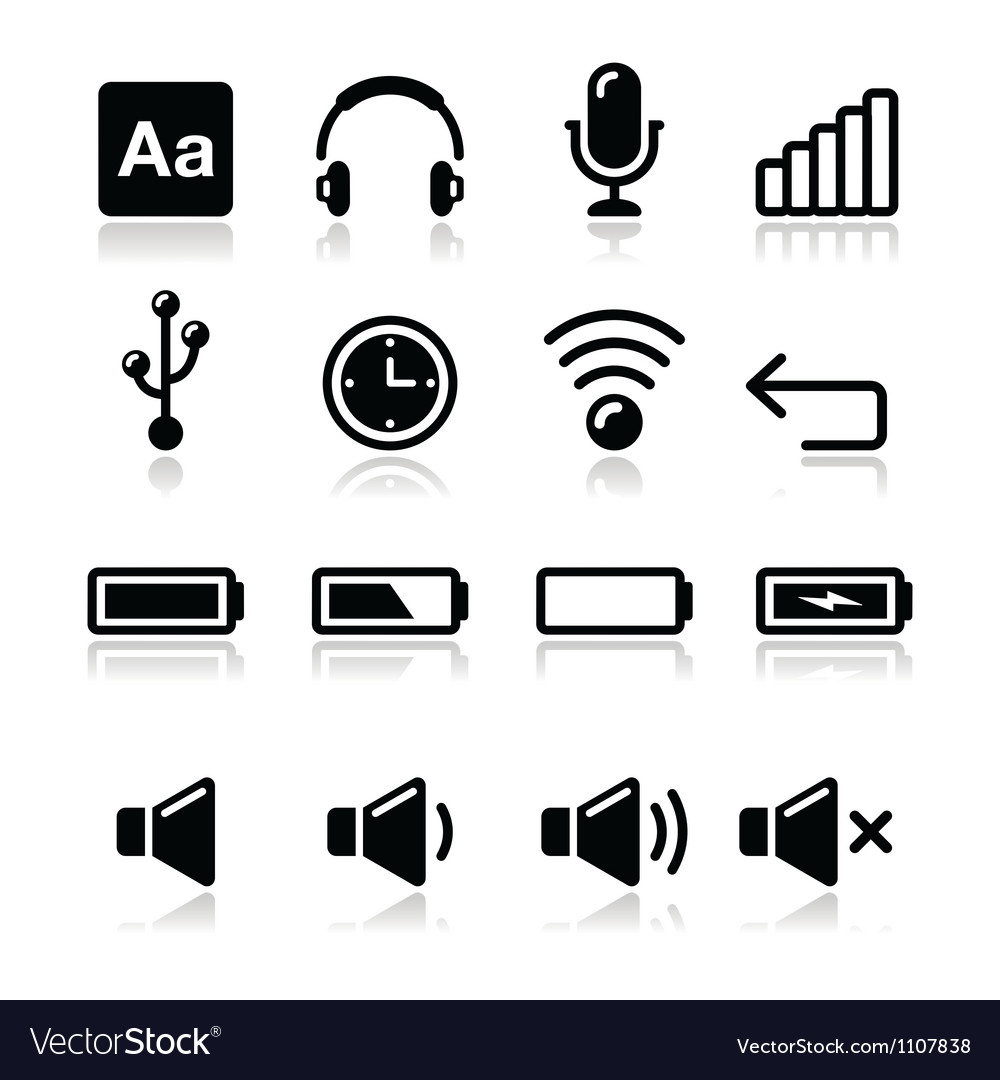 Electronic device Computer software icons set vector image