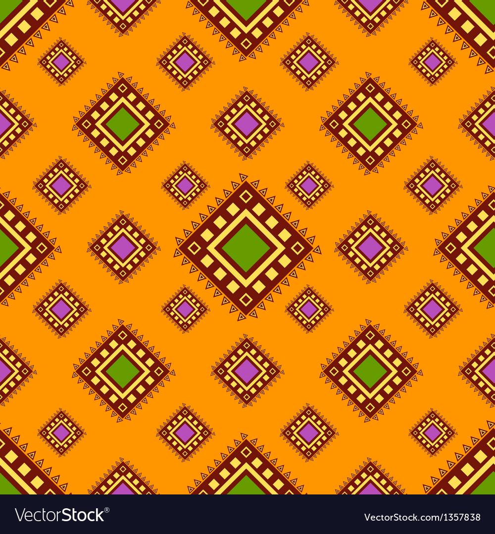 Tribal orange seamless pattern vector image