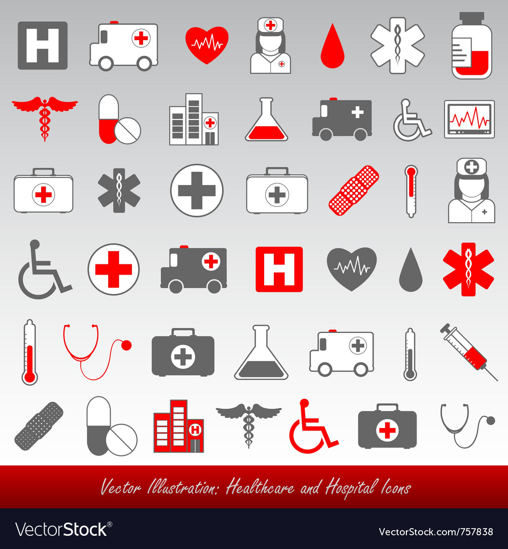 Healthcare and medical icons vector image