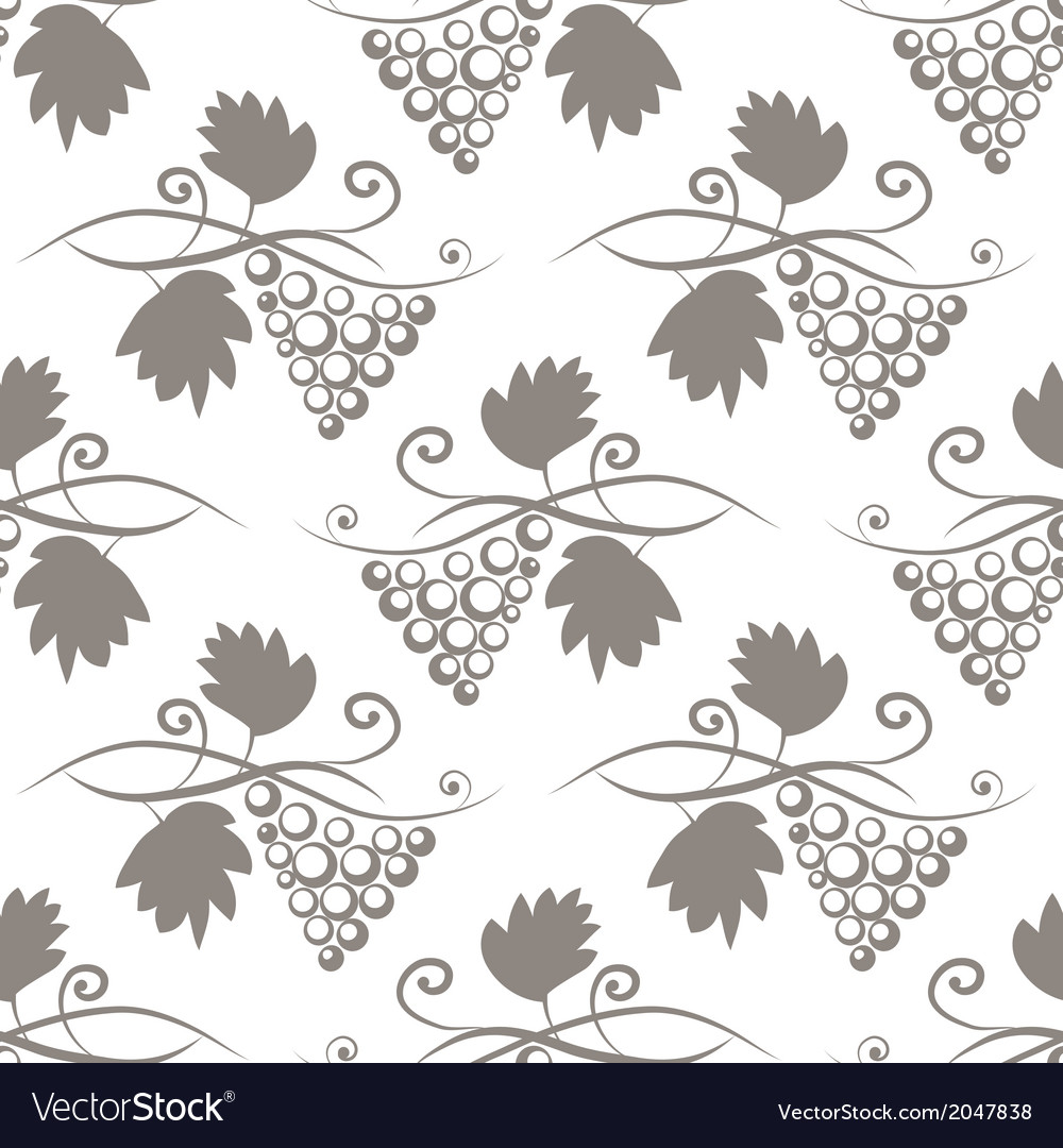 Seamless background with stylized grape vector image