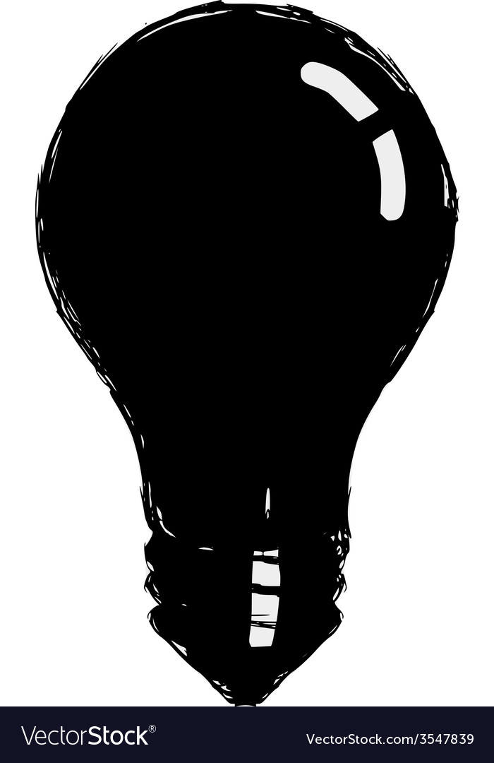 Incandescent lamp vector image