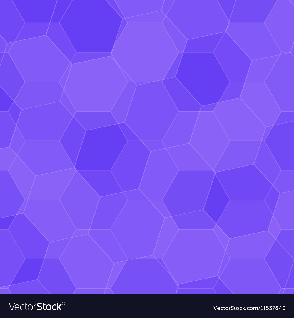 Background with violet honeycombs vector image