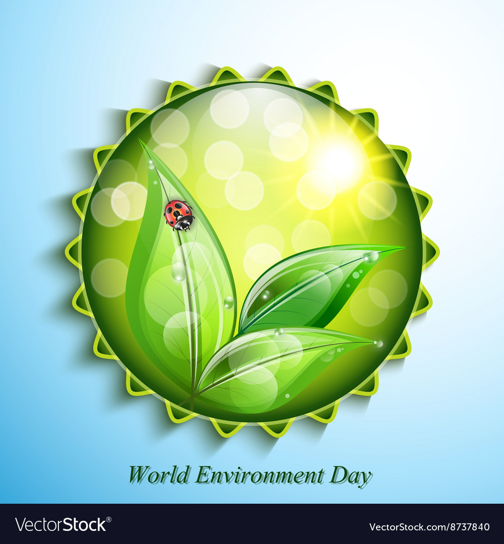 World environment day sign on blue background vector image