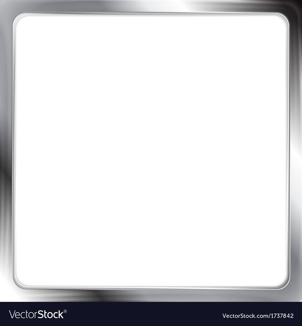 Abstract metallic silver frame vector image