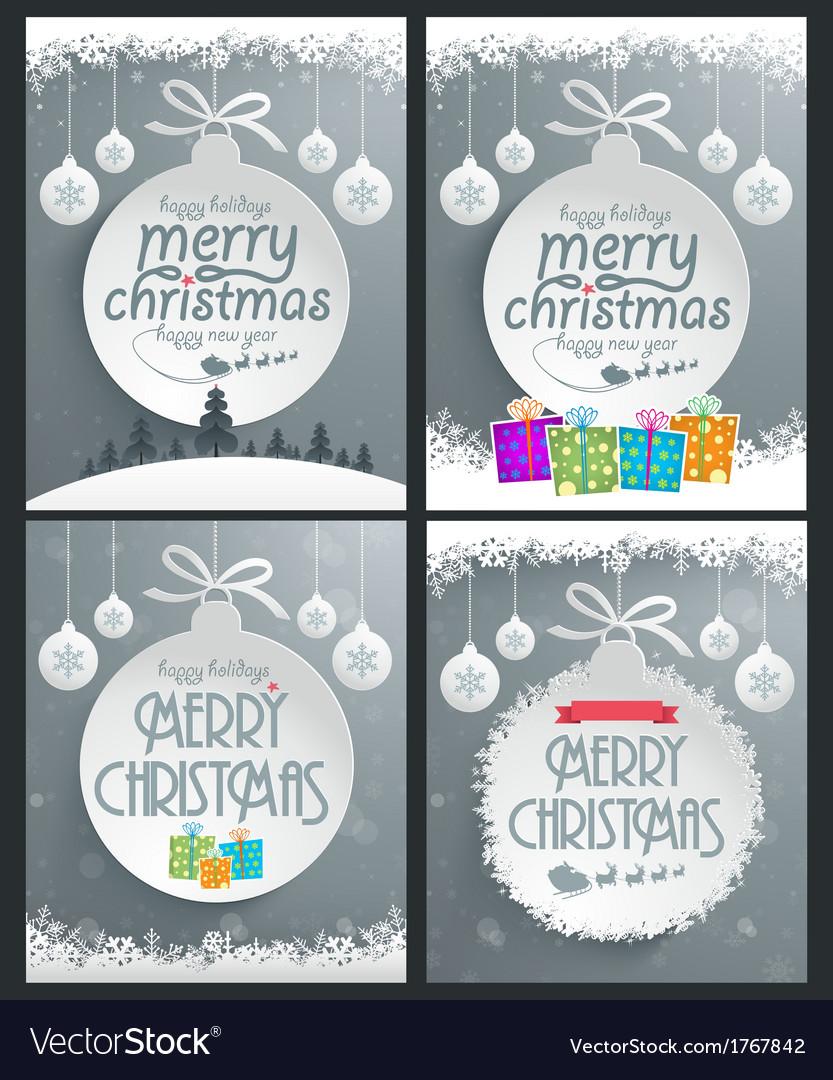 Christmas Ball Backgrounds vector image