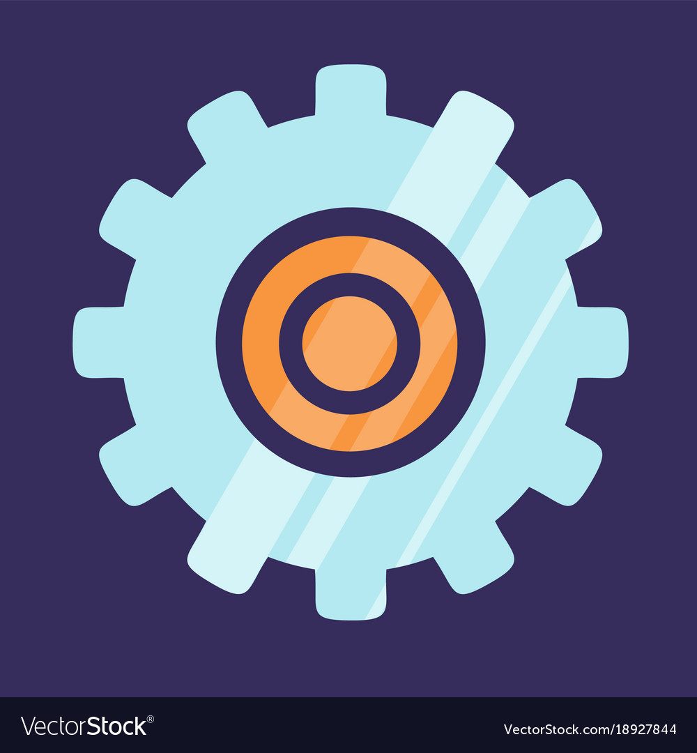 Gear icon logo design isolated on blue background vector image