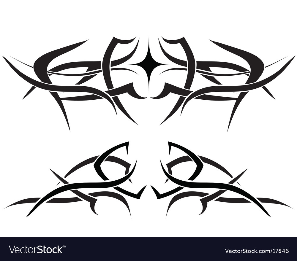 Flame tattoo vector image