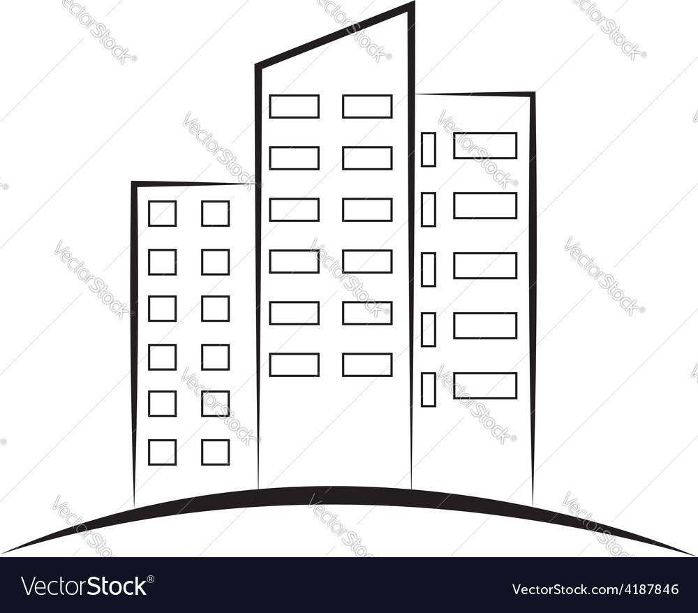 Real estate the logo for your construction company vector image