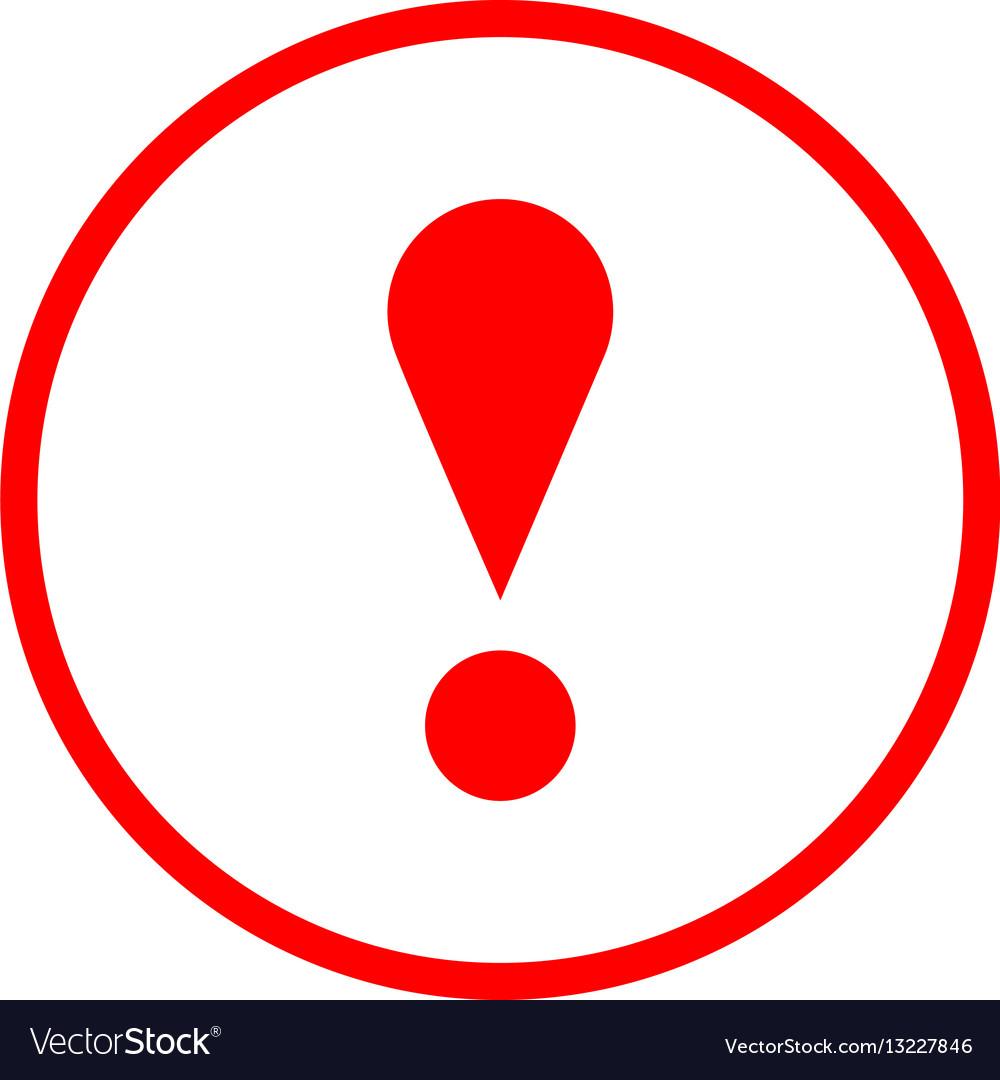 Red circle exclamation mark icon warning sign vector image buycottarizona Image collections