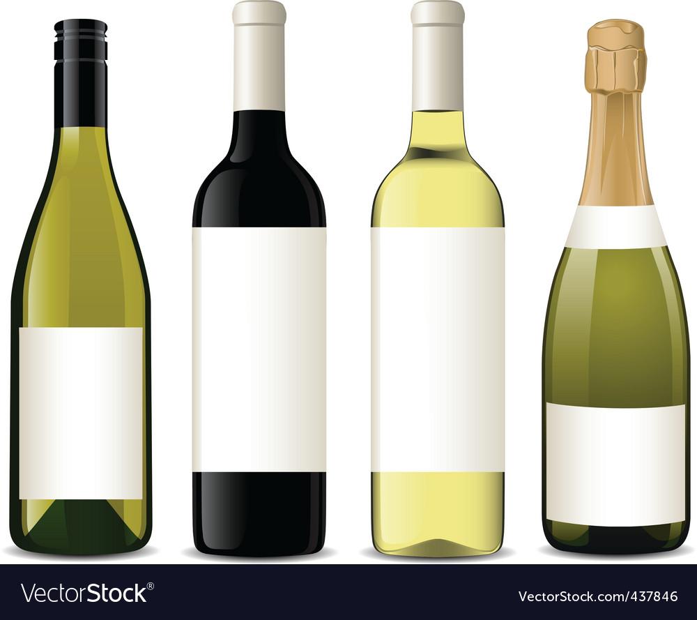 Vector wine bottles vector image