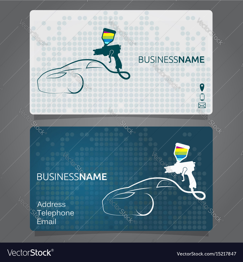 Business card for painting cars Royalty Free Vector Image