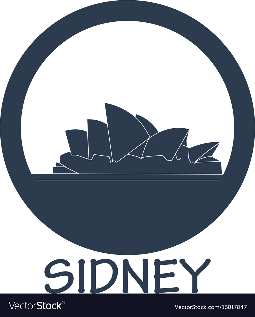 Flat icon attractions in australia vector image