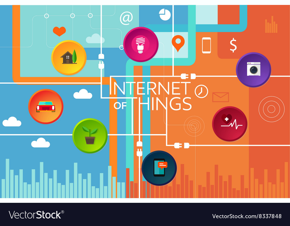 Internet of things thing vector image