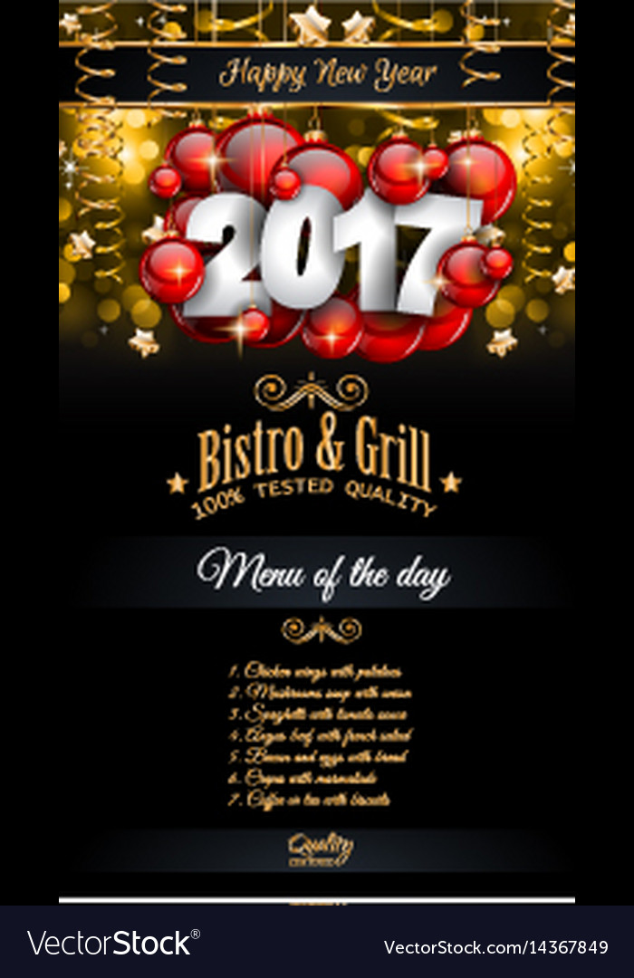 new year menu