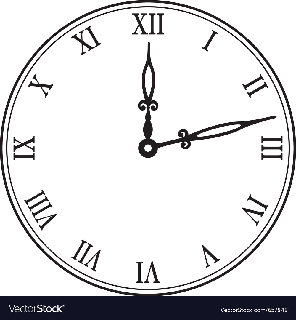 Black wall clock royalty free vector image vectorstock black wall clock vector image amipublicfo Image collections