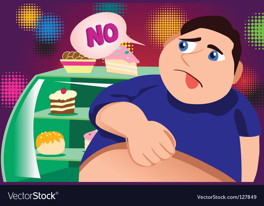 Fatty cakes vector image