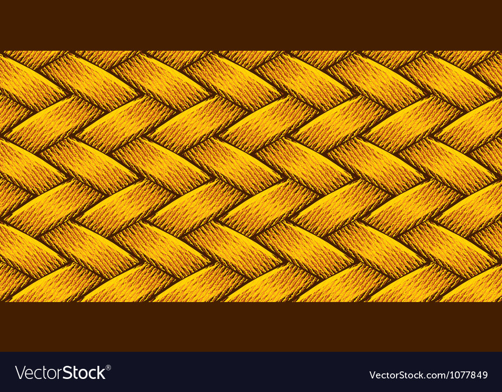 Golden fabric weaving vector image