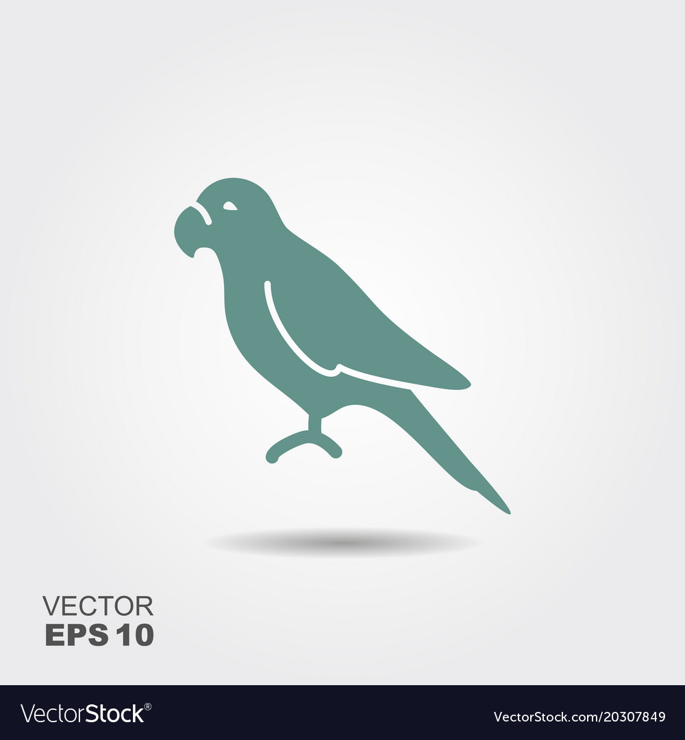 Parrot icon flat vector image