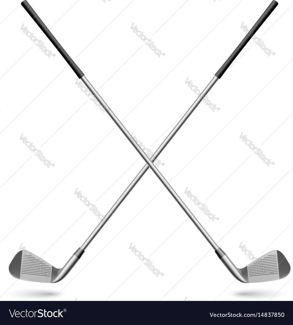 Golf club vector image