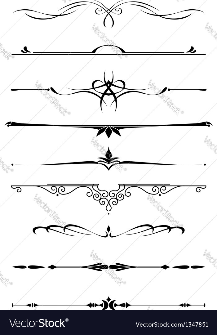 Vintage dividers and borders vector image