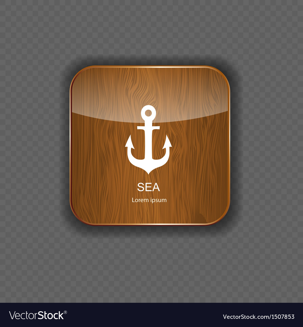 Sea wood application icons vector image