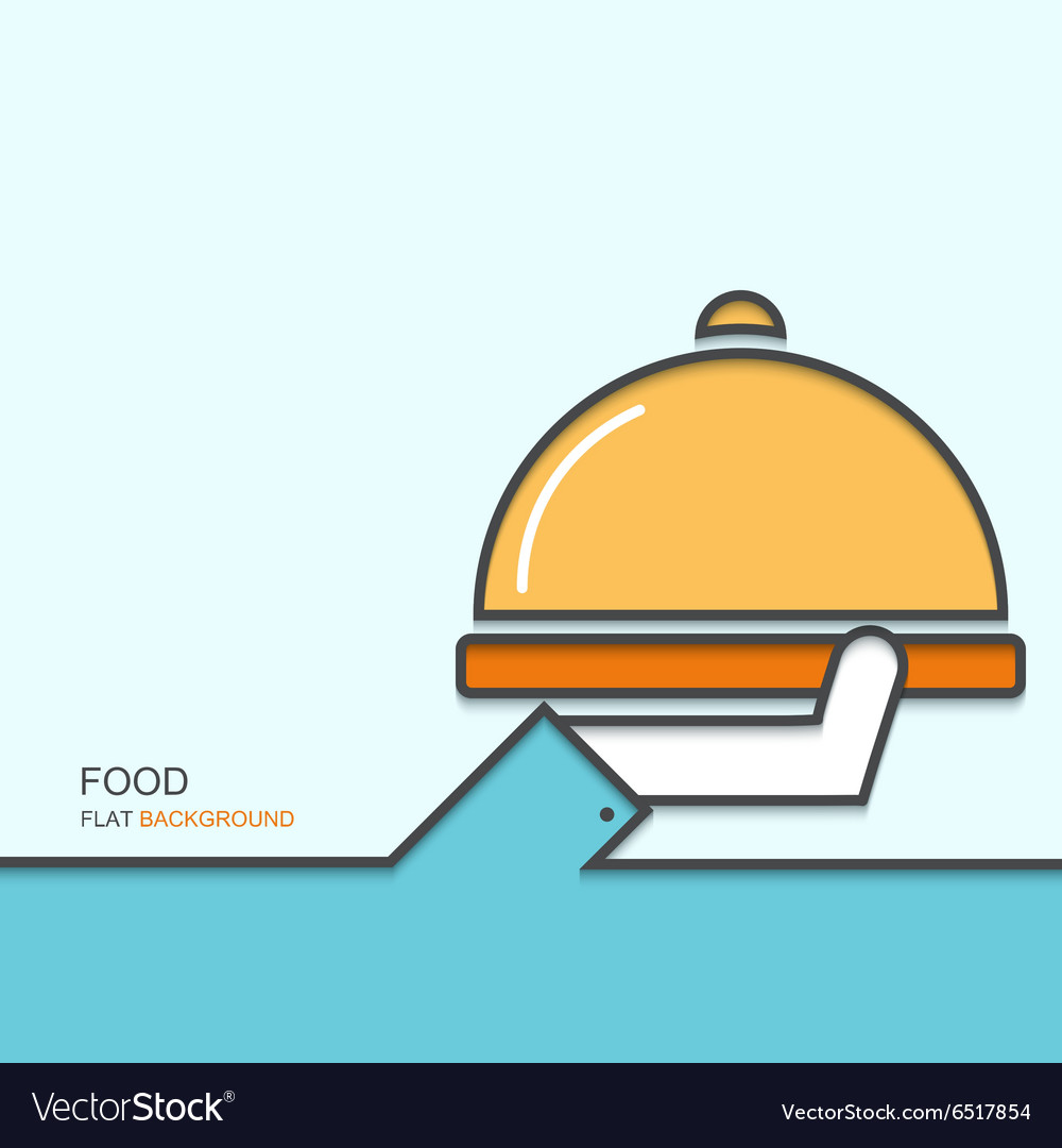 Modern outline flat design of MENU vector image