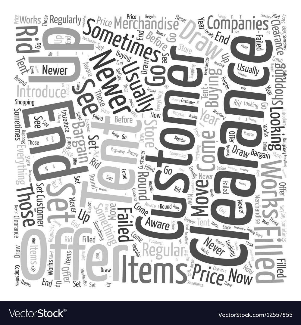 Clearance tents Word Cloud Concept vector image  sc 1 st  VectorStock & Clearance tents Word Cloud Concept Royalty Free Vector Image