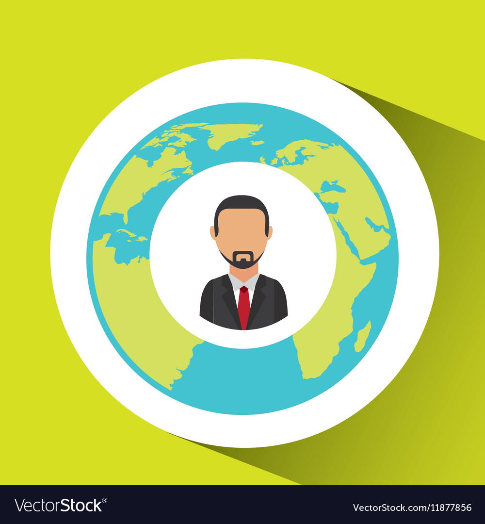 Businessman social media world map royalty free vector image businessman social media world map vector image gumiabroncs Image collections