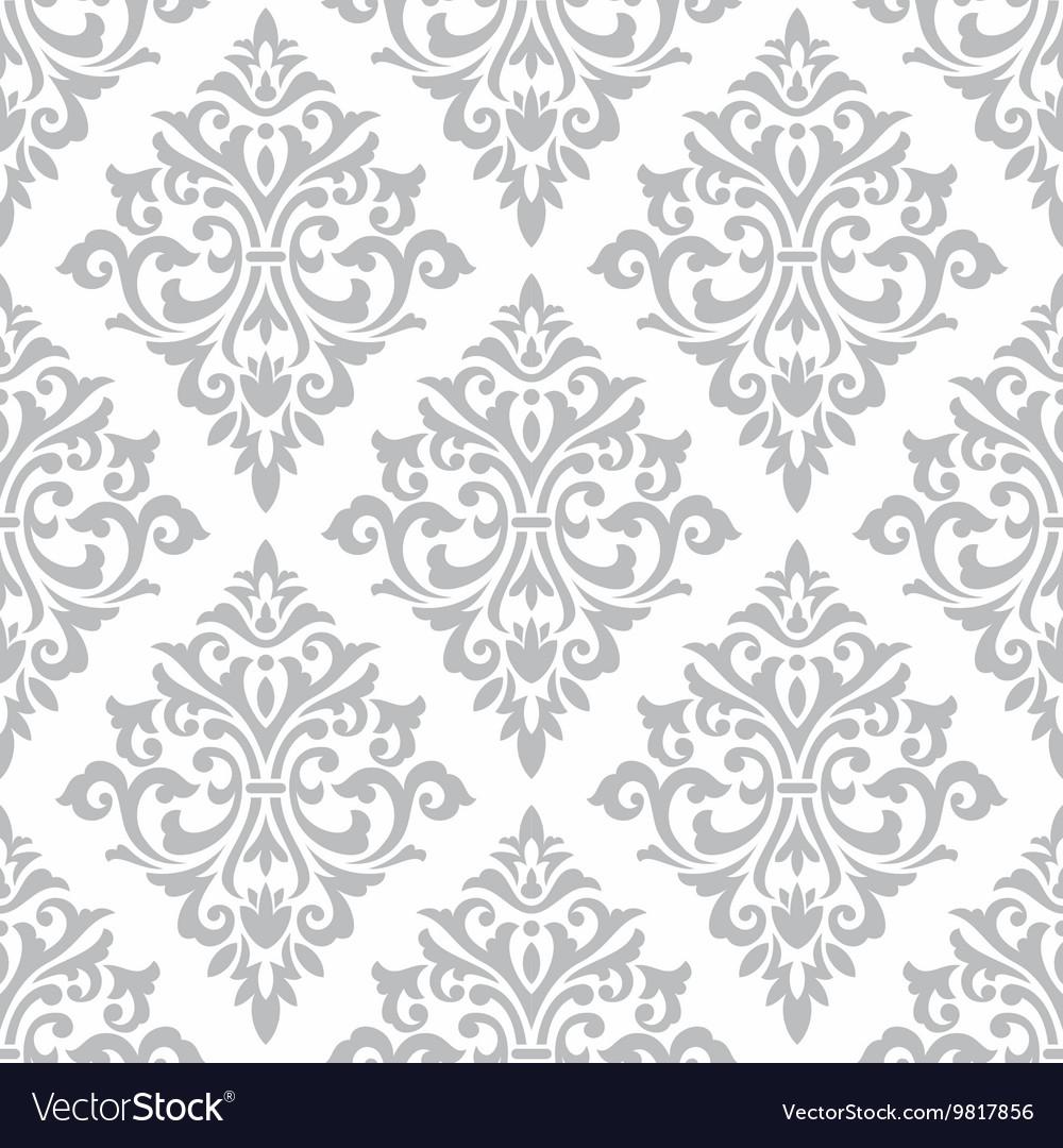 Seamless damask stencil pattern wall background vector image seamless damask stencil pattern wall background vector image amipublicfo Gallery