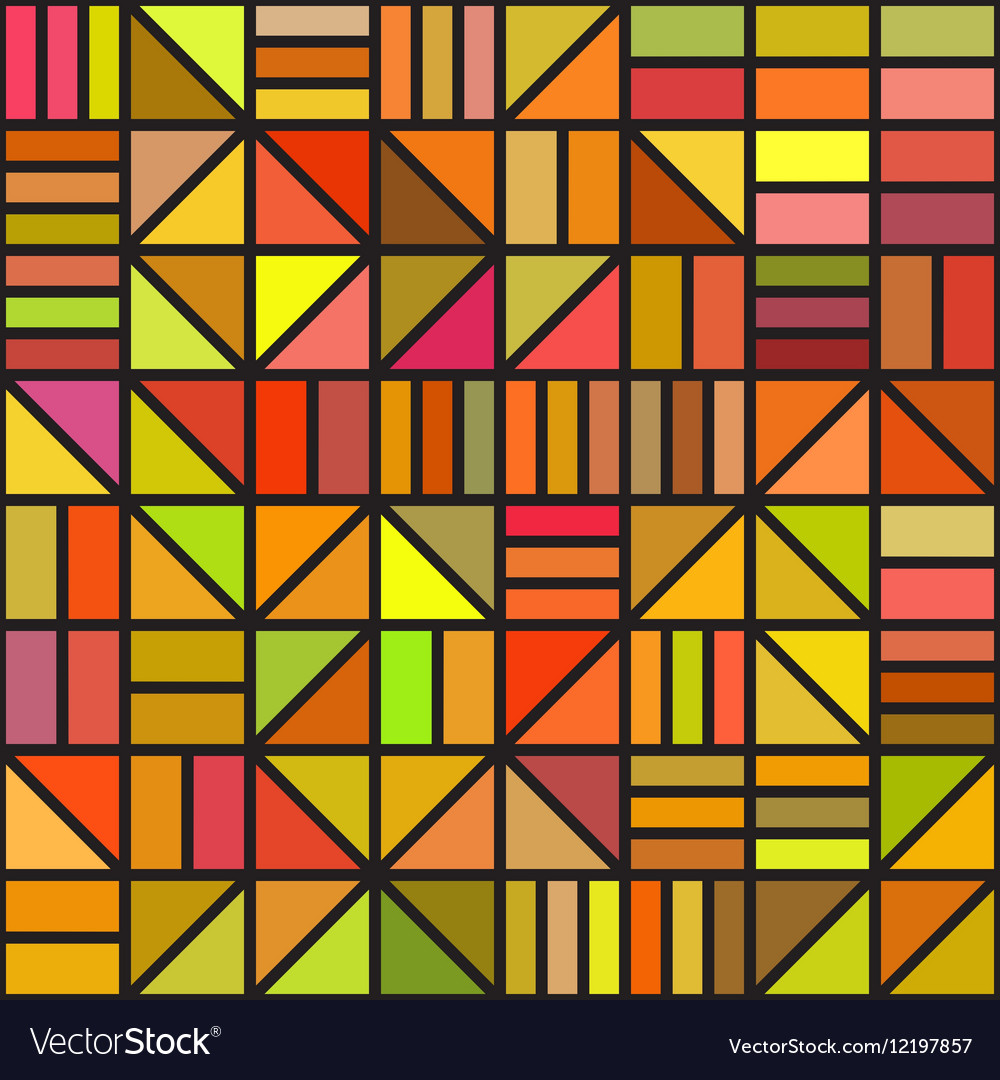 Seamless Irregular Block Grid Pattern In vector image
