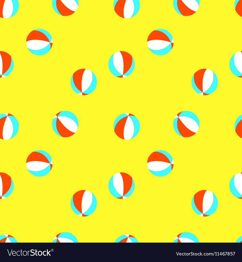 Seamless pattern with red white and blue vector image