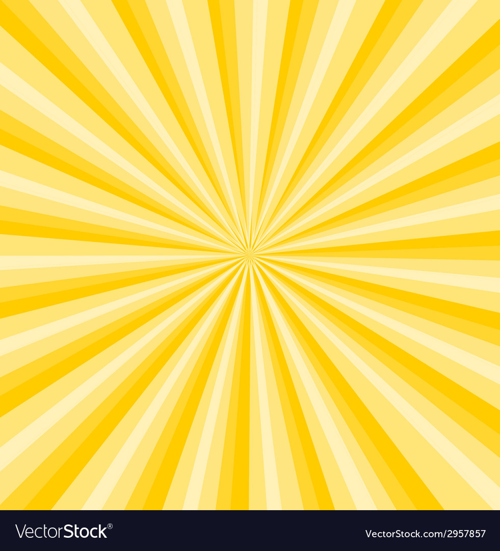 Yellow rays background vector image