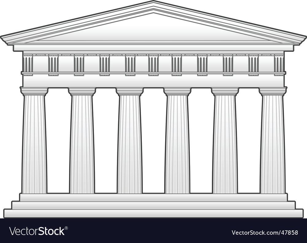 Greek temple vector image