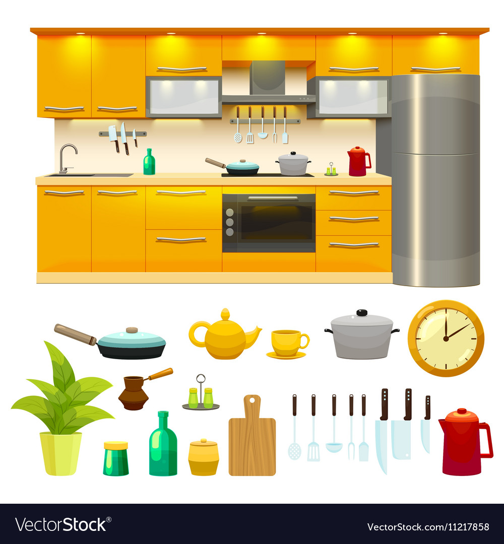 Design My Kitchen For Free: Kitchen Design Icon Set Royalty Free Vector Image