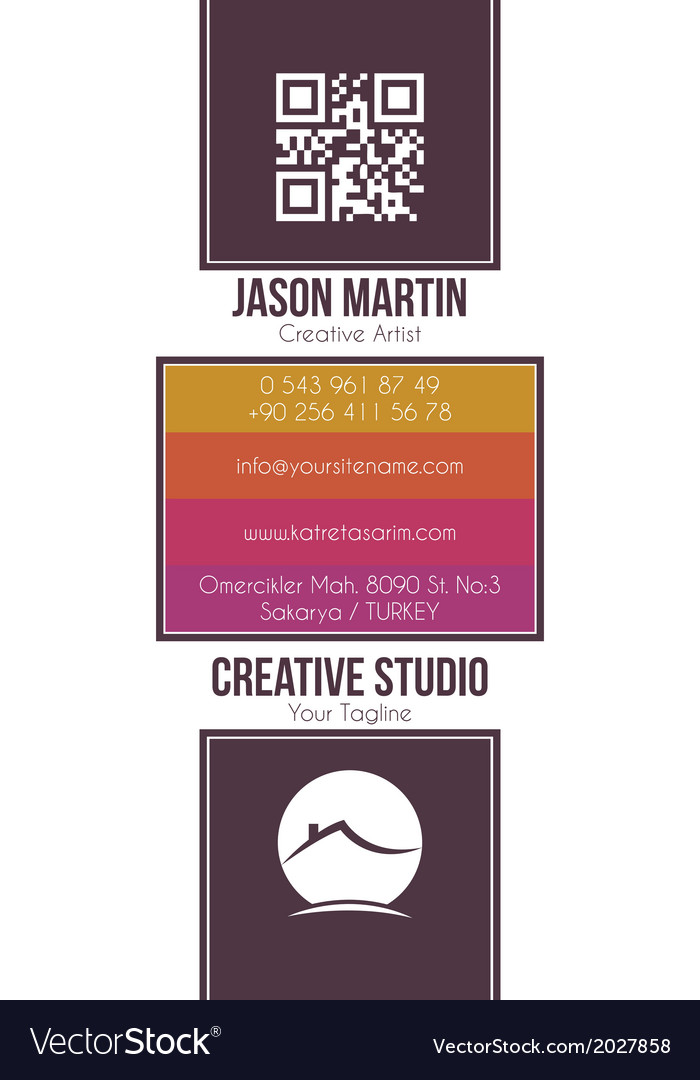 Real estate building business card Royalty Free Vector Image