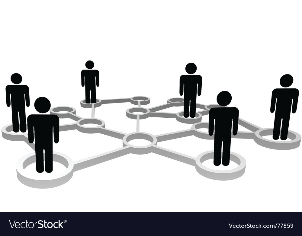 Connected people vector image