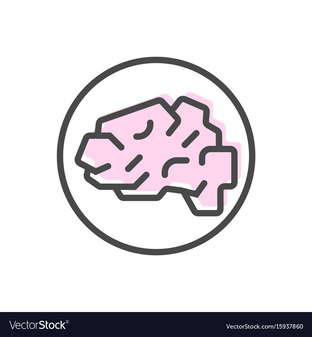 Artificial intelligence icon with brain symbol vector image biocorpaavc Images